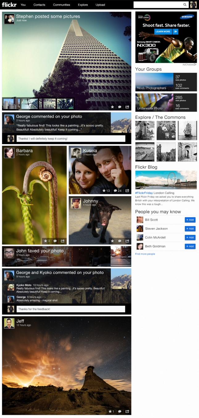 Flickr Activity Feed