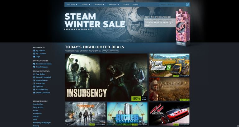 Steam Awards & Winter Sale